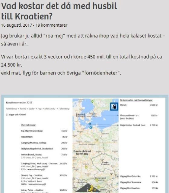 Vad kostar det med husbil till Kroatien